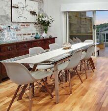 Matt Blatt Scandinavian Design Forte Glass Dining Table Rectangular