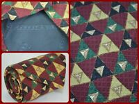 Carrot & Gibbs Multicolor Geometric Print Formal Prom Neck Tie Silk