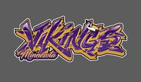 Minnesota Vikings Graffiti Vinyl Decal 8x3