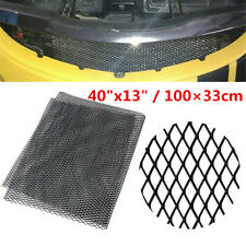 """40""""x13"""" Car Front Intake Grille Net Black Aluminum Rhombus Mesh Grill Section"""
