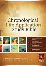 NLT Chronological Life Application Study Bible (2012, Hardcover)