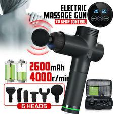 LCD Therapy Massage Gun Percussive Vibration Muscle Massager Sports Recovery UK