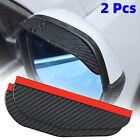 Car Black Rear View Side Mirror Rain Board Eyebrow Guard Sun Visor Accessories