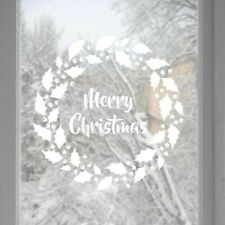 Christmas wreath window or wall Stickers-Decals-Window Stickers-Home Decor-Snowf