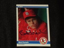BOB FORSCH 1984 FLEER SIGNED AUTOGRAPHED CARD #322 ST. LOUIS CARDINALS