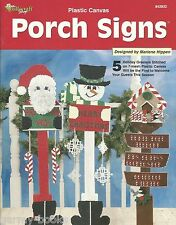 Porch Signs Plastic Canvas Pattern Christmas Marlene Hippen Needlecraft Shop NEW