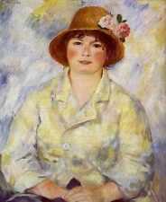 Métal SIGNE aline charigot future madame Renoir 1885 A4 12x8 aluminium