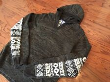 COMME DES GARCONS CDG JUNYA WATANABE HOODED KNIT PARKA SZ L JAPAN HOODY SWEATER