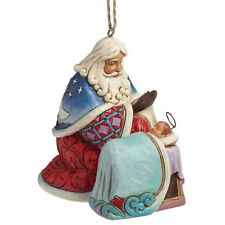 ENESCO NOËL Ornement À Accrocher Santa avec bébé Jésus Jim Shore Figurine