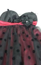 By&BY Junior Dress 5 Black Velvet Top Tulle Skirt Red Waist band  Lining Bow