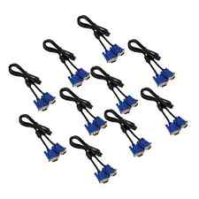 Lot 10 Pcs New 5FT SVGA VGA Monitor M/M Male To Male Extension Cable 5