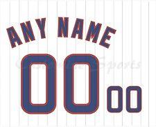 Béisbol Chicago Cubs Blanco Home Jersey número Personalizado Kit sin costura