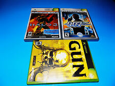 3X LOT XBOX Halo 2,007 AGENT UNDER FIRE,GUN