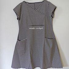 BORIS INDUSTRIES Sommer Kleid A-Linie & große Taschen schwarz-silbergrau 46 (4)