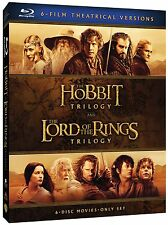 Lord of the Rings + Hobbit Movie Trilogies Complete Collection Box / BluRay Set