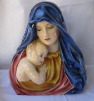 Large Rare Keramos Glass Porcelain Madonna Child by Barwig Wien Austria Vienna