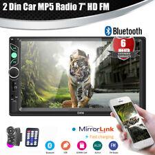 """7"""" HD 2DIN Car Radio Stereo MP5 GPS Player FM USB Bluetooth In-dash Head Unit"""