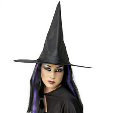 Adult Kid Women Men Black Witch Hat Masquerade Party Fancy Dress Costume Cosplay