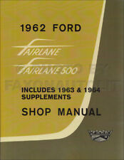 1962-1963-1964 Ford Fairlane Shop Manual 3 Books in 1 Repair Service 500