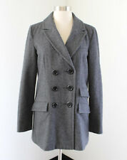 Tulle Charcoal Gray Double Breasted Wool Blend Car Coat Jacket S Anthropologie