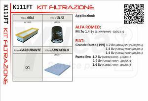 Inspektionskit Filter Fiat Grande Punto 1.2 1.4 Benzin - LPG Gas K111FT