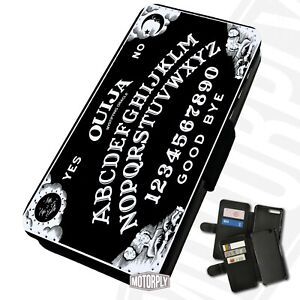 Printed Faux Leather Flip Phone Case For Huawei - Ouija-Board-B&W-Text