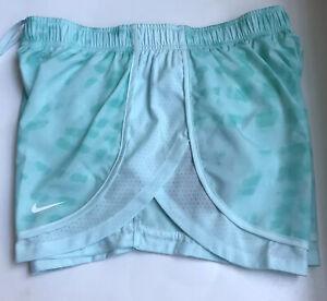 Nike Womens Sz Medium M Running Shorts Green Dri Fit NWT