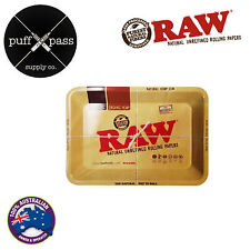 RAW METAL ROLLING TRAY MINI 18cm x 12cm  RAW ROLLING TRAY - TOBACCO ROLLING TRAY