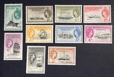 FALKLAND ISLANDS QEII DEPENDENCIES 1954 SHIPS SHORT SET TO 1/- MM