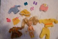 Barbie Kelly 1994 Lot Switch in back with additional clothes and assessories.