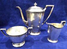 Atq 3pc Slv Plate HOMAN MFG CO Teapot, Creamer & Sugar Set