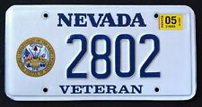 "NEVADA "" U.S. VETERAN - ARMY "" NV Military Specialty Graphic License Plate"