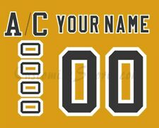 Boston Bruins Customized Number Kit for 1958-1967 Yellow Jersey