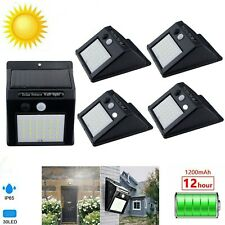 30LED Solar Power Motion Sensor Light PIR Security Outdoor Garden Wall Lamp 040