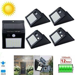 30LED Solar Power Motion Sensor Light PIR Security Outdoor Garden Wall Lamp 040