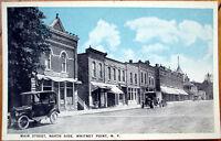 1920 Postcard: Main Street/Downtown - Whitney Point, New York NY
