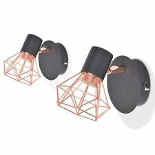 vidaXL 2x Lámparas de Pared Estilo Industrial Negro Cobre Aplique de Interior