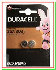 2 Batterie Pile DURACELL 357 303 SR44 V76PX SR1154 S76 SB-B9 10L14 228 280-62