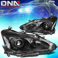 FOR 2013-2015 NISSAN ALTIMA BLACK HOUSING CLEAR CORNER PROJECTOR HEADLIGHT/LAMP