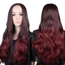 Real Natural Long Curly Wavy Half Head Wig Heat Resistant 3/4 Full Wigs Smooth #