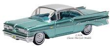 Oxford 1959 Pontiac Bonneville Coupe Green Diecast Metal Car 1/87 HO 87PB59003