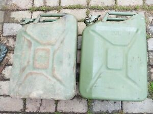 two 20L fuel cans millitary surplus ex nato stock used ideal site motox prep