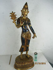 alter wertvoller Lapis-Lazuli Buddha mit Rubin & Smaragd original Tibet ~ 1960