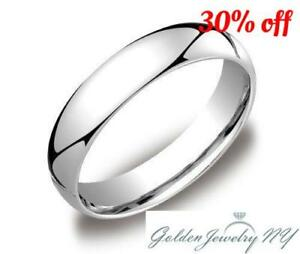 """SOLID PLATINUM 950 PLAIN COMFORT FIT WEDDING BAND RING MENS WOMEN .""""ALL SIZES"""""""