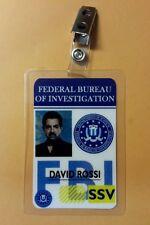 Criminal Minds ID Badge - David Rossi costume prop cosplay