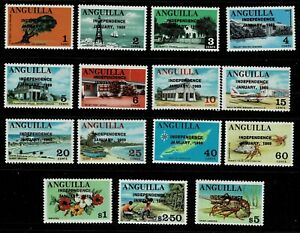 ANGUILLA 1967 SET MNH
