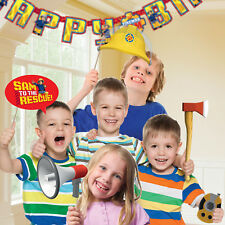 9 x Fireman Sam Happy Birthday Party Hand Held Photo Props