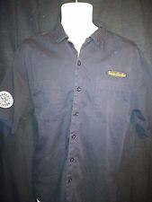 Harley Davidson  Black Embroidered  Short Sleeve Mechanics Shirt Mens Large  H54