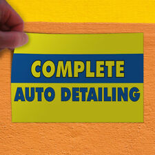 Decal Sticker Complete Auto Detailing Automotive Complete Detailing Store Sign