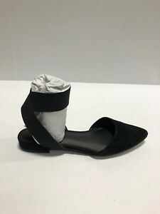 Steve Madden Uptown Womens Flats Pointed Toe Black Suede US6 M